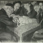 Chess Players. Photo Courtesy of the Thomas Fisher Rare Book Library, University of Toronto