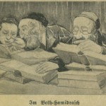 In Beit Midrash. Photo of newspaper Courtesy of the Thomas Fisher Rare Book Library, University of Toronto