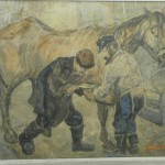 Two men and a horse